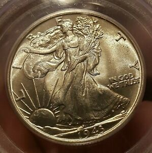SCARCE 1943 WALKING LIBERTY HALF DOLLAR PCGS MS64 OGH POSSIBLY BETTER , PERFECT