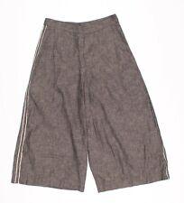 Womens Billy Reid Gray Wide Leg Crop Side Stripe Pants Size 0