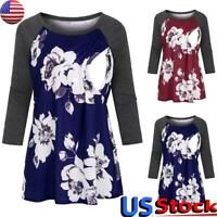 Maternity Women Tops Pregnant Ladies Long Sleeve Floral Nursing T-Shirt Blouse