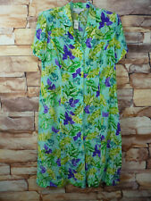 Maggy London Vintage Dress Size 22 Floral  58142 Button FrontBlue Purple Yellow
