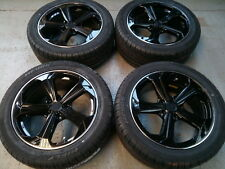 """8""""x18"""" JBW T6 S-LINE GLOSS BLACK ALLOY WHEELS+TYRES TO VW T5 T6 SET OF 4"""