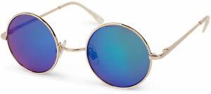 runde Sonnenbrille, kleine Gläser, schmales Metall Gestell Retro, UV 400, Unisex