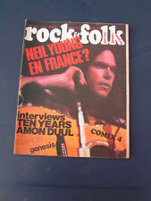 ROCK & FOLK 1973 74 NEIL YOUNG AMON DUUL CLAPTON GENESIS TEN YEARS AFTER T REX A