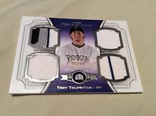 2012 Topps Museum Collection TROY TULOWITZKI QUAD /99 SICK 4 COLOR PATCH