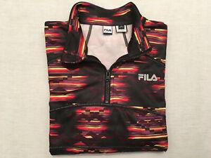 FILA SPORT Women's Multi-Colored L/S 1/4 Zip Running Sweatshirt Jacket, Size M