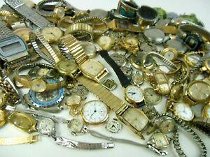 VINTAGE WATCH LOT FOR PARTS & REPAIR, Omega, Seiko, Hamilton, Lausanne +++