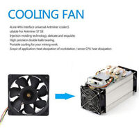 FX-7500RPM 5A 4PIN COOLING FAN MINING HEAT COOLER FOR ANTMINER BITMAIN S7 S9 KIT