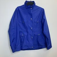 Women's Peter Millar  Blue Full Zip And Snap Button Rain Jacket Size L