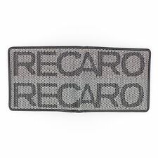 JDM Recaro Custom Stitched Gray Racing Fabric Bifold Wallet Leather Gradate Men