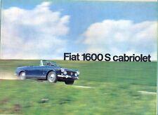 FIAT 1600s Cabriolet mercato tedesco colore originale delle Vendite Opuscolo