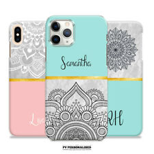 PERSONALISED PHONE CASE NAME INITIALS HARD COVER APPLE IPHONE 6s 7 8 Plus XR 11