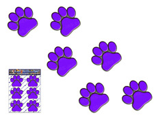 PAW PRINTS Small Purple ANIMAL Pet Cat Dog Vinyl Car Sticker Decal-ST00002PL_SML