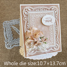 Lace Flower Frame Metal Cutting Dies Stencils Scrapbooking Embossing Paper Craft