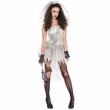 Womens Drop Dead Gorgeous Zombie Halloween Costume Fancy Dress Outfit Size 10-12