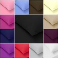 100% Egyptian Cotton 200TC  Fitted Sheets Flat Sheets Single Double King S King