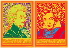 "Mozart/Beethoven HANDBILLS Set Of Two by John Van Hamersveld 5"" X 7"" Inches Each"