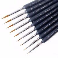 9pcs Artist Weasel Hair Brush Pen for Gouache Watercolor Paint Oil Painting Gift