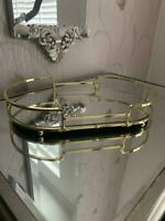 Gold mirror candle tray plate wedding table decorative mirror tray Oval 26 CM