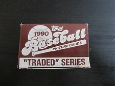 1990 Topps Baseball Traded Series Box Factory Set Complete
