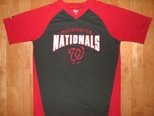 MLB Youth Kids WASHINGTON NATIONALS Baseball Athletic Gray Red XL Jersey Shirt