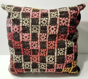 SOUTHWEST PILLOW 100% WOOL TURKISH HANDLOOM MATERIAL MADE IN TURKEY NEW!