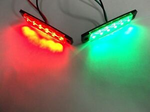 Pair of BBT Marine Grade 12 volt Waterproof LED Navigation Lights