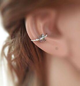 Conch Earring Hoop Swarovski Crystal Piercing Ring 20g 13-16mm Silver Gold