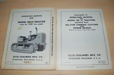 Allis Chalmers Hd21 Tractor Crawler Dozer Owner Operator Operation Manual Book
