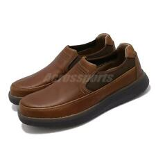 Clarks Un Abode Go Unstructure Dark Tan Leather Men Casual Slip On Loafers Shoes