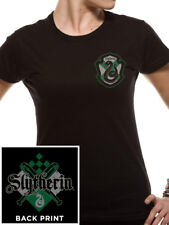 Official Harry Potter House Slytherin - Ladies Black Fitted T-Shirt