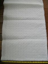 "Vintage Cotton Organdy Eyelet Fabric White 36W x 71"" Excellent"