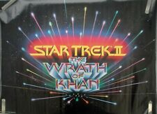 VERY RARE STAR TREK TWO WRATH OF KAHN 1982 VINTAGE ORIGINAL POSTER