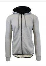 NWT Galaxy by Harvic Mens Full-Zip Hoodie Hooded Sweatshirt Grey XL