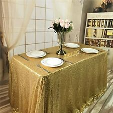 "Sequin Banquet RECTANGULAR Tablecloth Cover Table Sparkling Weddin 60x102""-"