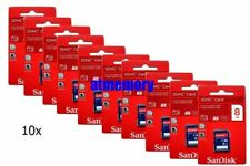 10x SanDisk 8GB SD SDHC 8G Class 4 Memory Card Lot of 10pcs Retail Pack