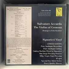 Salvatore Accardo - Violins of Cremona / Fritz Kreisler 4 LP 180 Gram - 45 RPM