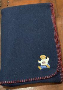 RLL Ralph Lauren Bear Logo Throw Blanket