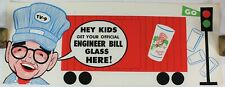1950's Engineer Bill's Red Light Green Light Glass Vintage Advertisement Poster