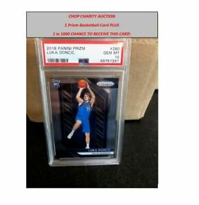 CHARITY Auction 1 Prizm Card & Chance For 2018 Prizm Luka Doncic PSA 10 RC +MORE