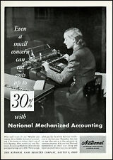 1945 Secretary accounting National Cash Register vintage photo print ad ads45
