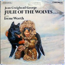LP- Julie Of The Wolves- Jean Craighed George- Irene Worth- 1977 Caedmon TC1534