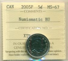 2005P Canada 5 Cent Certified ICCS MS-67, Very Affordable for New Hobbyist