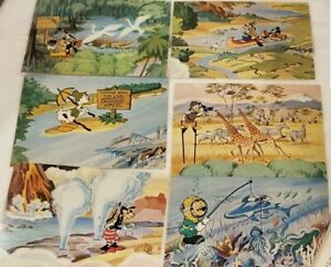 RARE VINTAGE 1978 DISNEY MICKEY MOUSE 24 CARD PUZZLE COMPLETE