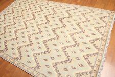 6' x 9' Designer Ikat Hand Knotted 100% Wool Area Rug AOR8628 6x9 Aqua