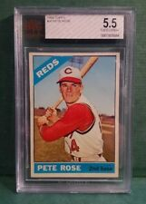 1966 Topps PETE ROSE #30 GRADED BVG 5.5 EXCELLENT+ Cincinnati Reds