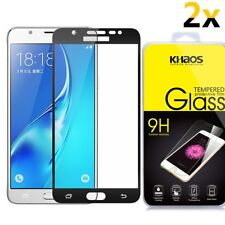 [2PK] Full Cover Tempered Glass Screen Protector For Samsung Galaxy J7 Sky Pro