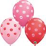 "Kissey Lips Assorted 11"" Qualatex Latex Balloons"