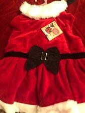 DOG OUTFIT | ELEGANT CHRISTMAS DRESS VELVET |  FURRY TRIMS | Large Soft
