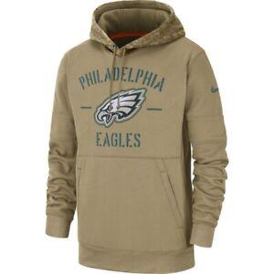 Nike Philadelphia Eagles Salute To Service Hoodie (Men's Size S) Pullover Tan
