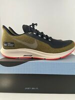 NIKE Air Zoom Pegasus 35 Shield Olive Running Shoes Men's Size 7.5 AA1643 300